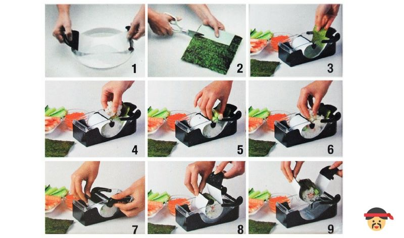 Come utilizzare macchina per sushi perfect roll infografica